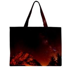 Italy Night Evening Stars Zipper Mini Tote Bag