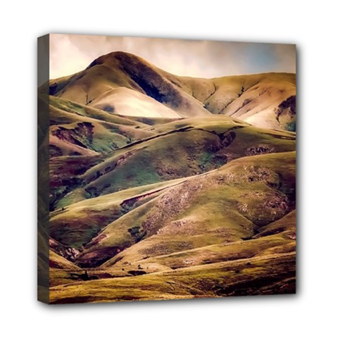 Iceland Mountains Sky Clouds Mini Canvas 8  X 8