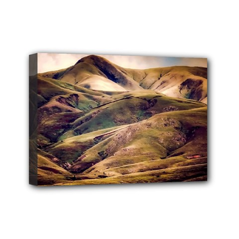 Iceland Mountains Sky Clouds Mini Canvas 7  X 5