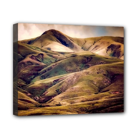 Iceland Mountains Sky Clouds Canvas 10  X 8