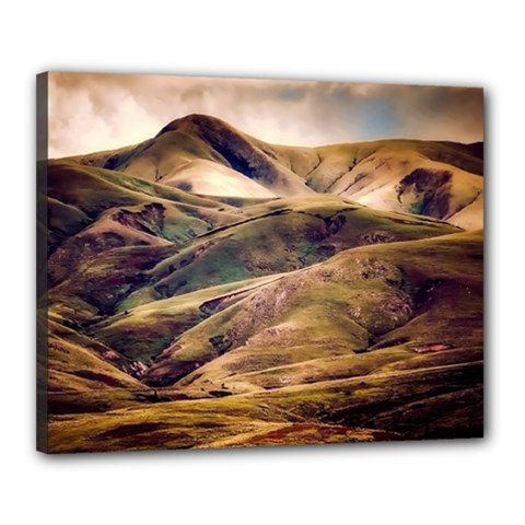 Iceland Mountains Sky Clouds Canvas 20  X 16