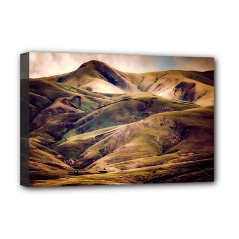 Iceland Mountains Sky Clouds Deluxe Canvas 18  X 12