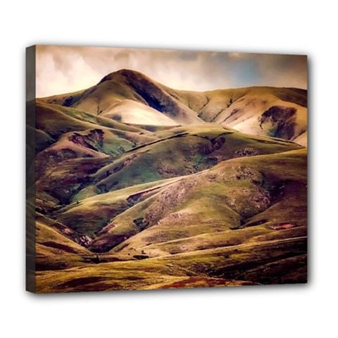 Iceland Mountains Sky Clouds Deluxe Canvas 24  X 20