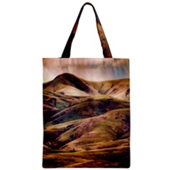 Iceland Mountains Sky Clouds Zipper Classic Tote Bag