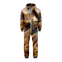 Iceland Mountains Sky Clouds Hooded Jumpsuit (kids)