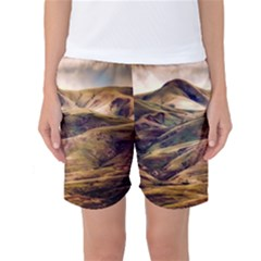 Iceland Mountains Sky Clouds Women s Basketball Shorts