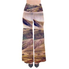 Iceland Mountains Sky Clouds Pants