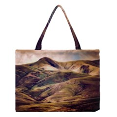 Iceland Mountains Sky Clouds Medium Tote Bag