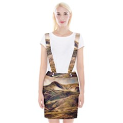 Iceland Mountains Sky Clouds Braces Suspender Skirt