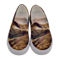 Iceland Mountains Sky Clouds Women s Canvas Slip Ons