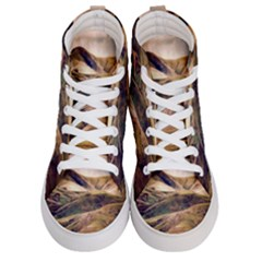 Iceland Mountains Sky Clouds Women s Hi Top Skate Sneakers