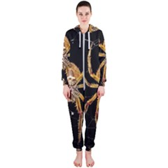 Insect Macro Spider Colombia Hooded Jumpsuit (ladies)