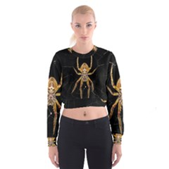 Insect Macro Spider Colombia Cropped Sweatshirt