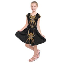 Insect Macro Spider Colombia Kids  Short Sleeve Dress