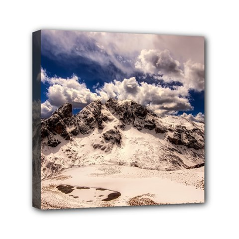 Italy Landscape Mountains Winter Canvas Travel Bag