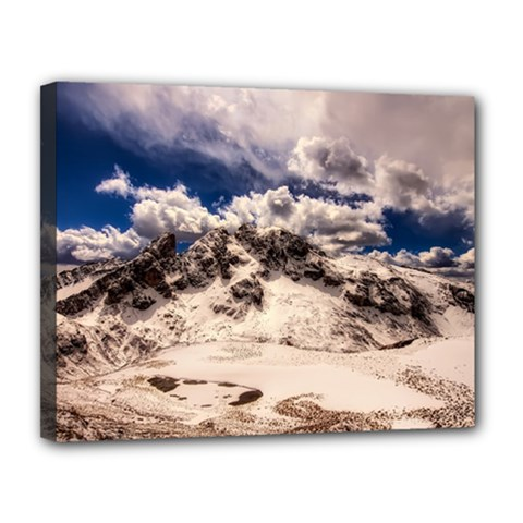 Italy Landscape Mountains Winter Canvas 14  X 11