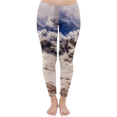 Italy Landscape Mountains Winter Classic Winter Leggings