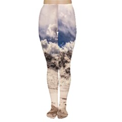 Italy Landscape Mountains Winter Women s Tights
