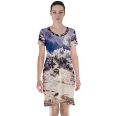 Italy Landscape Mountains Winter Short Sleeve Nightdress