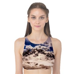 Italy Landscape Mountains Winter Tank Bikini Top