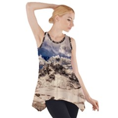 Italy Landscape Mountains Winter Side Drop Tank Tunic