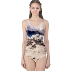 Italy Landscape Mountains Winter One Piece Swimsuit