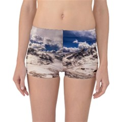Italy Landscape Mountains Winter Reversible Boyleg Bikini Bottoms