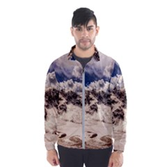 Italy Landscape Mountains Winter Wind Breaker (men)