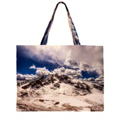 Italy Landscape Mountains Winter Zipper Large Tote Bag