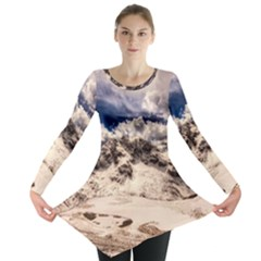 Italy Landscape Mountains Winter Long Sleeve Tunic