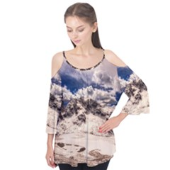 Italy Landscape Mountains Winter Flutter Tees