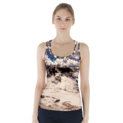 Italy Landscape Mountains Winter Racer Back Sports Top