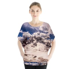 Italy Landscape Mountains Winter Blouse