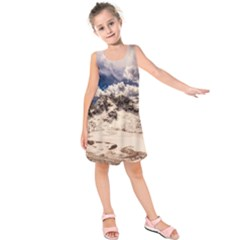 Italy Landscape Mountains Winter Kids  Sleeveless Dress