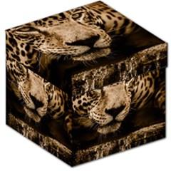 Jaguar Water Stalking Eyes Storage Stool 12