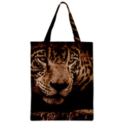 Jaguar Water Stalking Eyes Zipper Classic Tote Bag