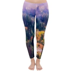 Landscape Fog Mist Haze Forest Classic Winter Leggings