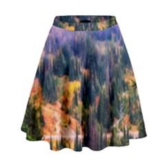 Landscape Fog Mist Haze Forest High Waist Skirt