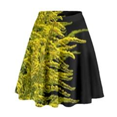 Golden Rod Gold Diamond High Waist Skirt