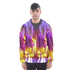 Flower Blossom Bloom Nature Hooded Wind Breaker (men)