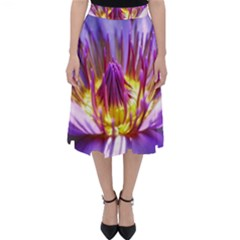 Flower Blossom Bloom Nature Folding Skater Skirt