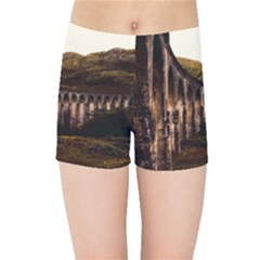 Viaduct Structure Landmark Historic Kids Sports Shorts