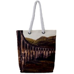 Viaduct Structure Landmark Historic Full Print Rope Handle Tote (small)