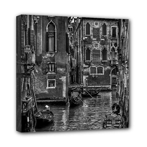 Venice Italy Gondola Boat Canal Mini Canvas 8  X 8