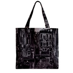 Venice Italy Gondola Boat Canal Zipper Grocery Tote Bag