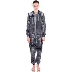 Venice Italy Gondola Boat Canal Hooded Jumpsuit (ladies)
