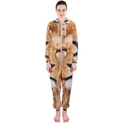 Africa African Animal Cat Close Up Hooded Jumpsuit (ladies)