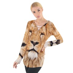 Africa African Animal Cat Close Up Tie Up Tee