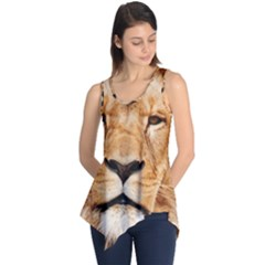 Africa African Animal Cat Close Up Sleeveless Tunic
