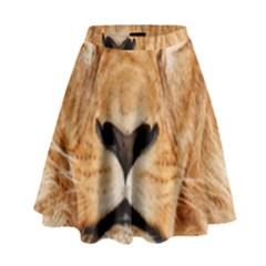 Africa African Animal Cat Close Up High Waist Skirt